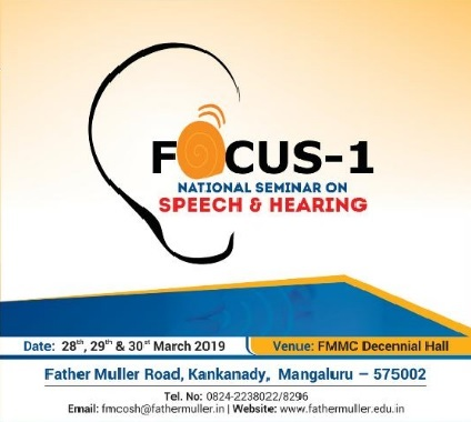 "Invited Speaker for, ""Focus-1 National Seminar on Speech & Hearing"""