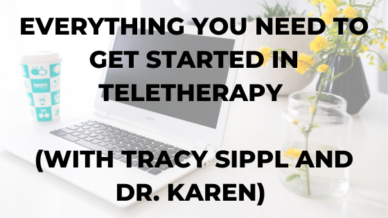 Everything you need to get started in teletherapy (with Tracy Sippl and Dr. Karen)